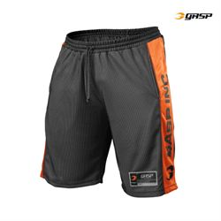 Image of   Gasp No1 Mesh Shorts Sort/Orange