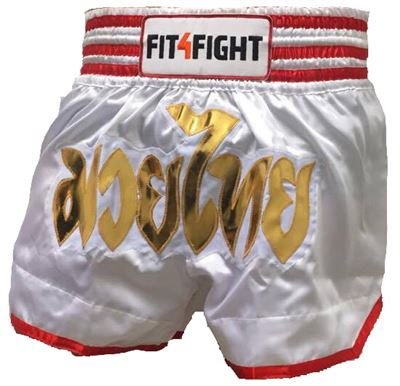 Image of   Fit4Fight Muay Thai Shorts Hvid
