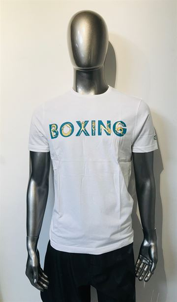 Boxing t-shirt Naked woman fra Green Hill i hvid