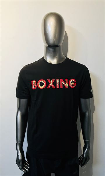 Boxing t-shirt Naked woman fra Green Hill i sort