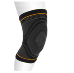Shock Doctor Compression Knit Knee Sleeve with Gel Support - Black