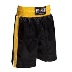 N/A Fit4fight bokseshorts, sort/gul på fit4fight