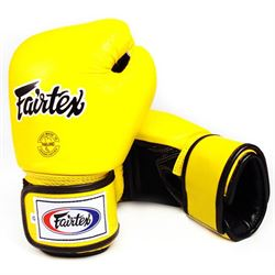 N/A Fairtex bgv 1 tight fit sparringshandsker gul fra fit4fight