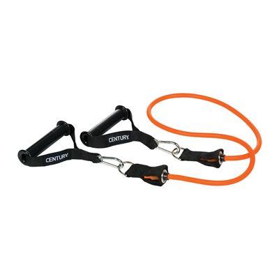 century Træningselastik med aftagelige håndtage orange på fit4fight