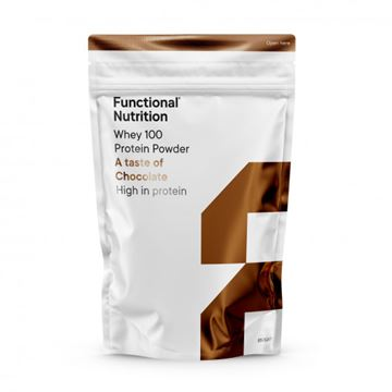 100 Whey Protein -­ 850 g Chocolate fra Functional Nutrition