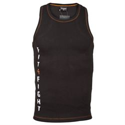 fit4fight tank top  sort orange til mand fra fit4fight