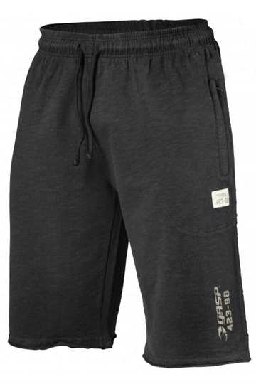 Gasp Throwback Sweat Shorts-Wash Black