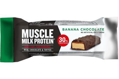 Muscle milk protein bar 30% banana choko 55 g fra N/A fra fit4fight