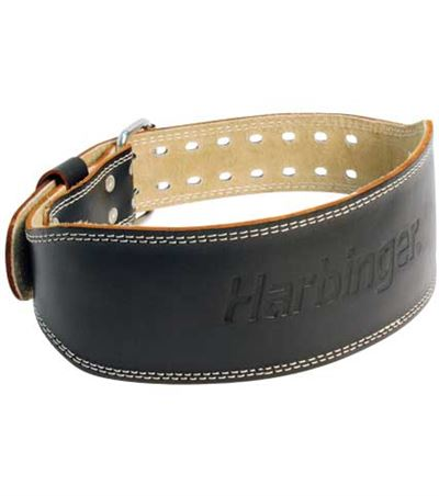 "4"" padded leather belt fra N/A på fit4fight"