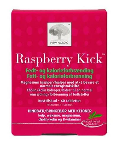 New Nordic Raspberry Kick 60 tabletter