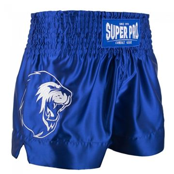 Thai -Boxing Short fra Super Pro Blå