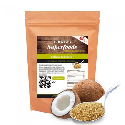 Bodylab organic coconut sugar 300 g fra N/A fra fit4fight