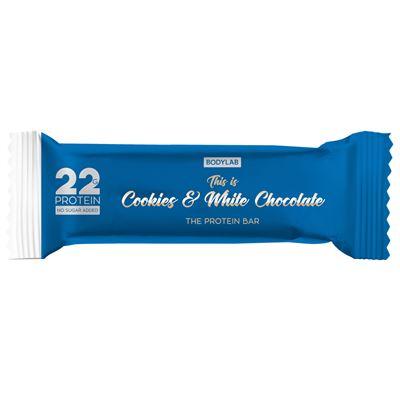 bodylab Bodylab proteinbarer med cookies & hvid chokolade 65g på fit4fight