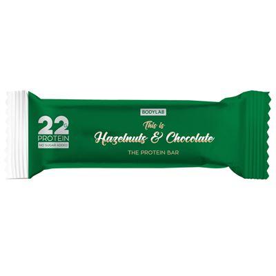 bodylab – Bodylab proteinbarer med hasselnød og chokolade 65g fra fit4fight