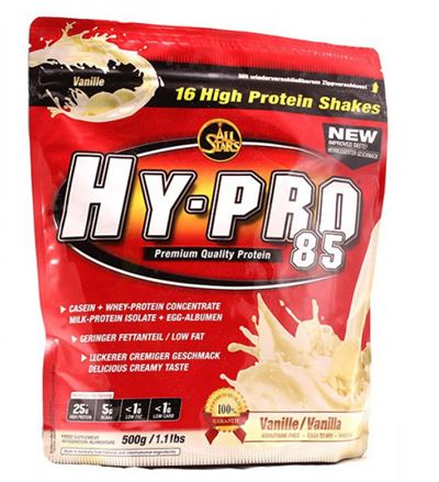 N/A – All stars hy-pro 85 casein + whey protein vanilje fra fit4fight